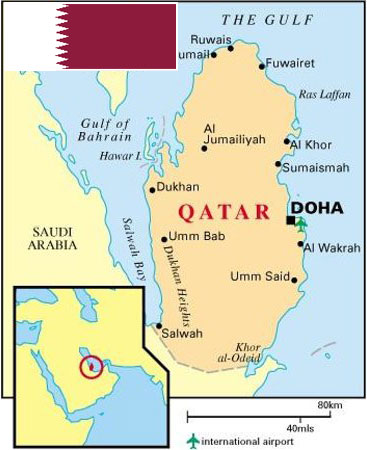 Qatar removes visa requirements for citizens of 80 countries amardesh qatar map gumiabroncs Images